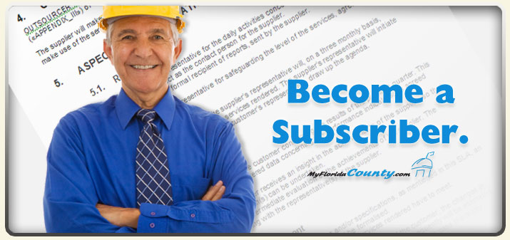 MyFloridaCounty.com: Become a Subscriber